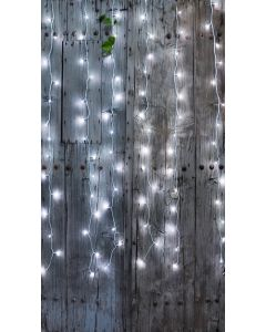 Rideau Flicker Light avec 96 LEDS blanc pur  L2 x H2 m