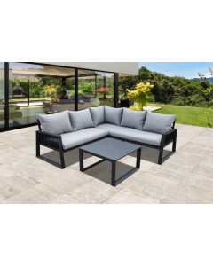 Salon Corde 5 places Gris - L.190 x l.70 x H.41 cm