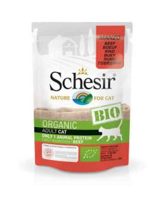 Schesir - Aliment bio pour chats - Boeuf 85g
