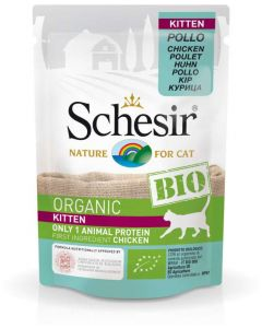Schesir - Aliment bio pour chatons - Poulet 85g