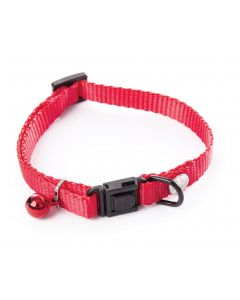 Smooz - Collier en nylon réglable chat 10-20/30cm rouge