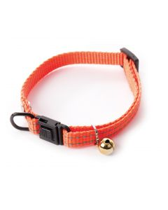 Smooz - Collier Flash pour chat en nylon orange 10 mm 20/30 cm