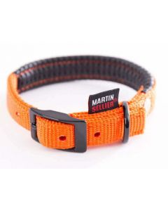 Smooz - Collier nylon uni confort orange pour chien 2,5x65 cm