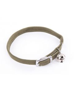 Smooz - Collier pour chat en nylon kaki 10 mm/30 cm