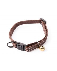 Smooz - Collier réglable pour chat flash marron 10mm/20-30cm