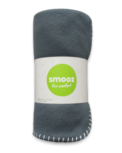 Smooz - Plaid pop ardoise 150cm