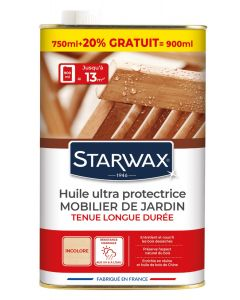 Starwax - Huile protectrice teck très longue protection 750 ml