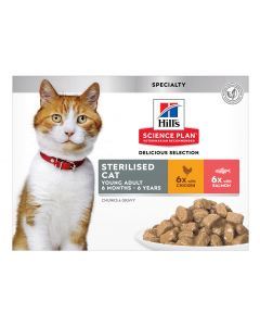 Sterilised Cat Sachets Multipack 12X85G 2 Saveurs