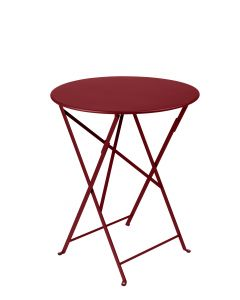 Fermob - Table pliante Bistro piment - Ø60 x H.74 cm