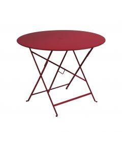 "Table Pliante ""Bistro"" Piment - L.96 x l.96 x H.74 cm"