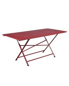 "Table pliante ""Cargo"" piment L.190 x l.90 x H.74 cm"
