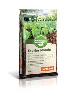 Tourbe blonde 80 L. Jardiland.
