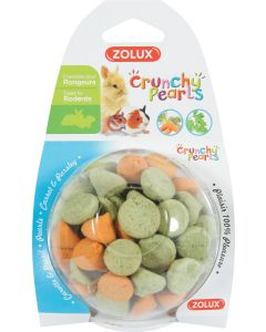 Zolux - Crunchy pearls carotte persil pour rongeurs 45 g