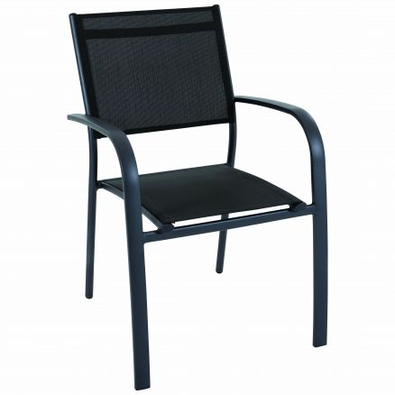 Fauteuil empilable TOSCA anthracite