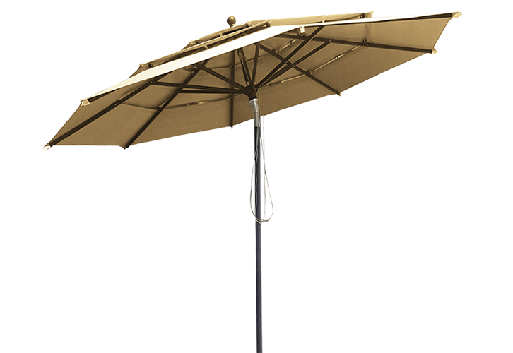 Parasol grand vent taupe