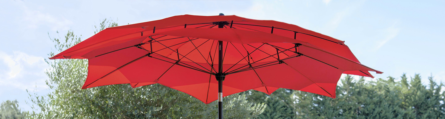 parasol rectangulaire inclinable jardiland